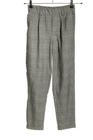 Bershka Spodnie materiałowe czarny-biały Wzór w kratkę W stylu biznesowym