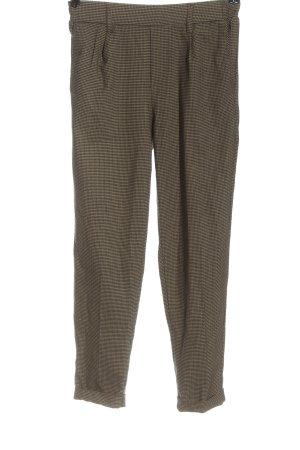 Bershka Stoffen broek bruin-wolwit volledige print casual uitstraling