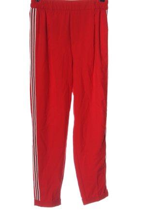 Bershka Pantalon en jersey rouge style décontracté