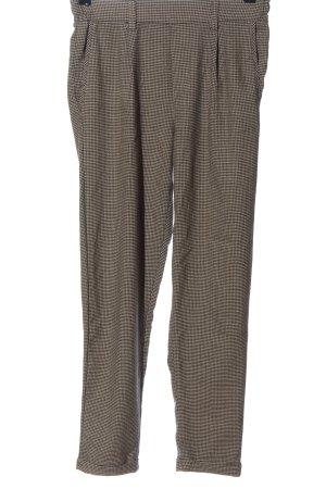Bershka Pantalone jersey nero-crema motivo a quadri stile professionale