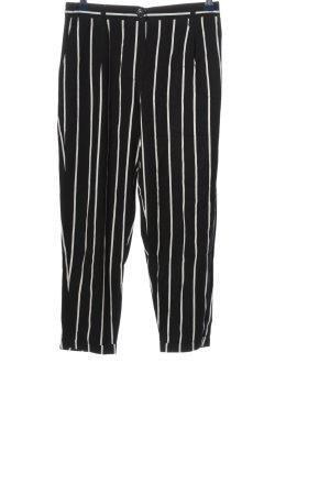 Bershka Stoffhose schwarz-weiß Streifenmuster Casual-Look