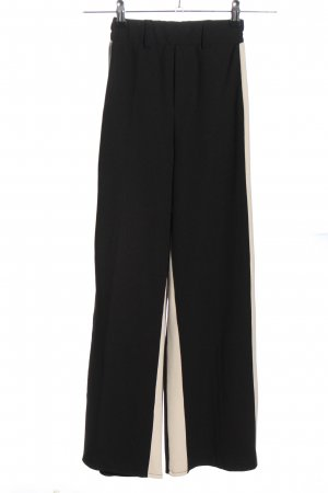Bershka Stoffhose schwarz-wollweiß Streifenmuster Casual-Look
