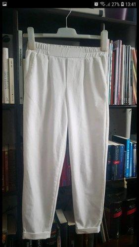 Bershka Stoffhose stretch weiß, 34