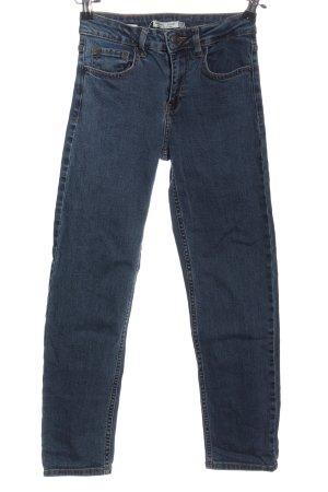 Bershka Straight-Leg Jeans blau Casual-Look