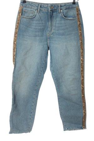 Bershka Jeansy z prostymi nogawkami niebieski W stylu casual