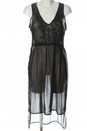 Bershka Strandjurk zwart straat-mode uitstraling