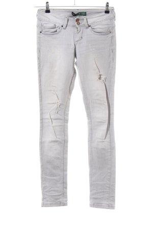 Bershka Stretch Jeans hellgrau Casual-Look