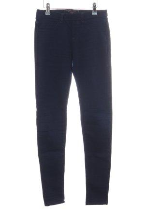 Bershka Stretchhose blau Casual-Look