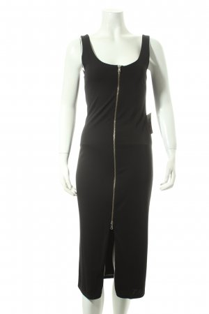Bershka Stretchkleid schwarz Party-Look