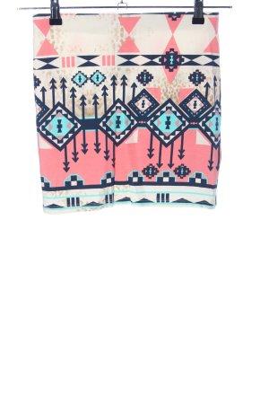 Bershka Spódnica ze stretchu Graficzny wzór W stylu casual