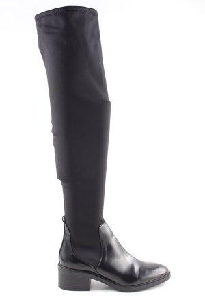 Bershka Stivale elasticizzato nero stile casual
