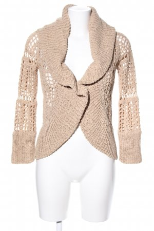 Bershka Strickjacke wollweiß Casual-Look