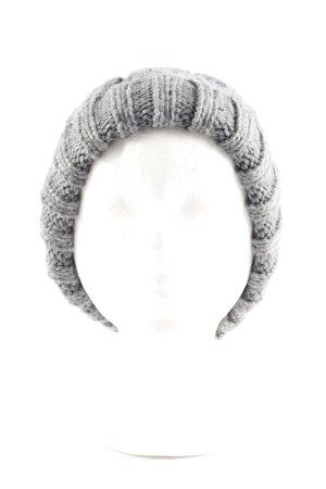 Bershka Sombrero de punto gris claro punto trenzado look casual