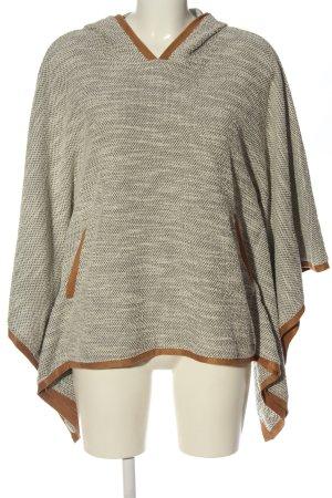 Bershka Ponczo z dzianiny jasnoszary-brązowy Melanżowy W stylu casual