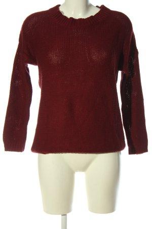 Bershka Pull tricoté rouge style décontracté