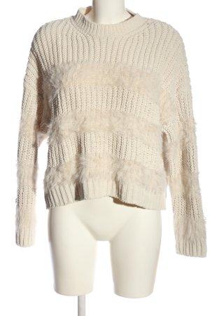 Bershka Maglione lavorato a maglia crema stile casual