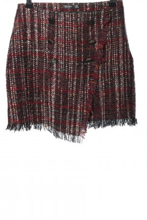 Bershka Knitted Skirt check pattern casual look