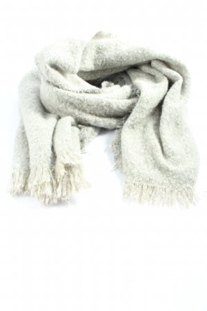 Bershka Knitted Scarf light grey casual look