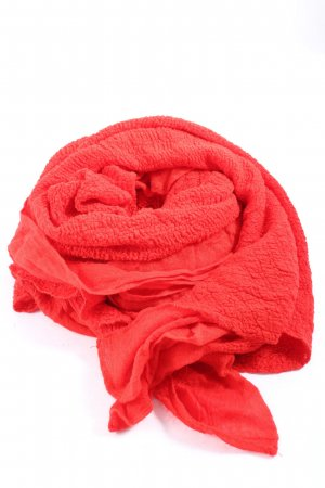Bershka Knitted Scarf red business style