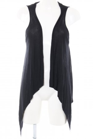 Bershka Strickweste schwarz Casual-Look