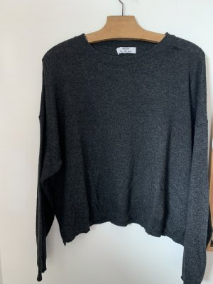 Bershka Pull polaire gris anthracite