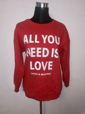 Bershka Sweater Sweatshirt Pulli Shirt Oversize All you Need is Love
