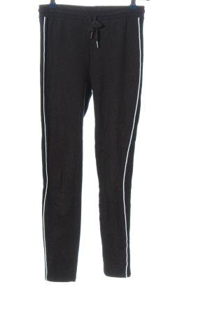 Bershka Spodnie dresowe czarny W stylu casual