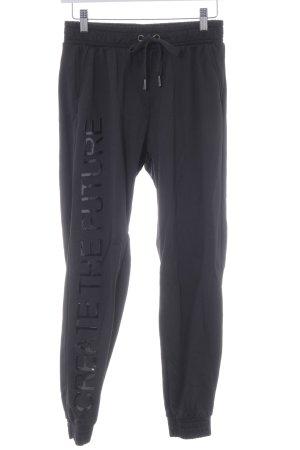 Bershka Pantalon de jogging noir style athlétique