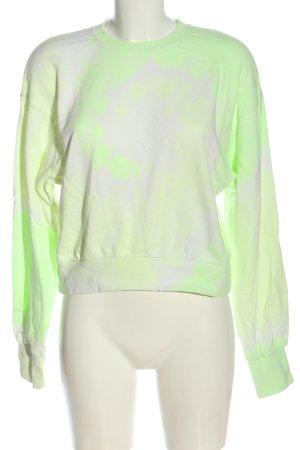 Bershka Sweatshirt grün-weiß Farbverlauf Casual-Look