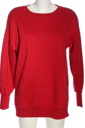 Bershka Bluza dresowa czerwony W stylu casual