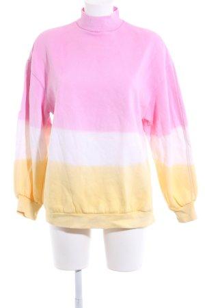 Bershka Sweatshirt Streifenmuster Casual-Look