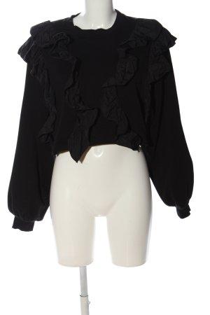 Bershka Sweatshirt schwarz Casual-Look