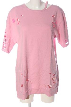 Bershka Sweat Shirt pink casual look