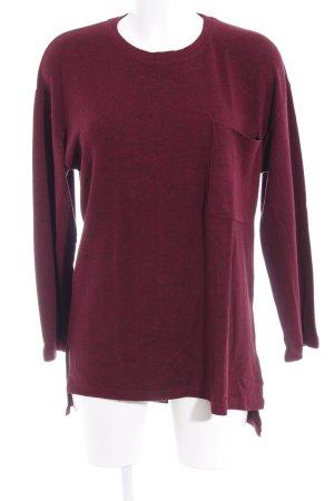 Bershka Sweatshirt bordeauxrot Casual-Look