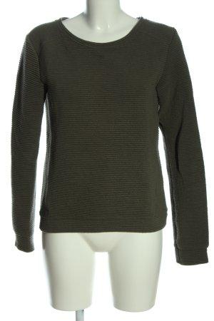 Bershka Bluza dresowa khaki W stylu casual