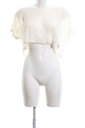 Bershka T-Shirt creme Blumenmuster Elegant