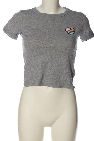 Bershka T-Shirt light grey flecked casual look