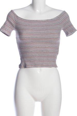 Bershka T-Shirt Streifenmuster Casual-Look