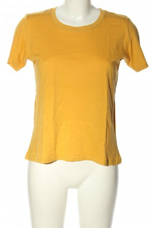 Bershka T-Shirt blassgelb Casual-Look