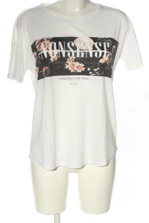Bershka T-Shirt Motivdruck Casual-Look