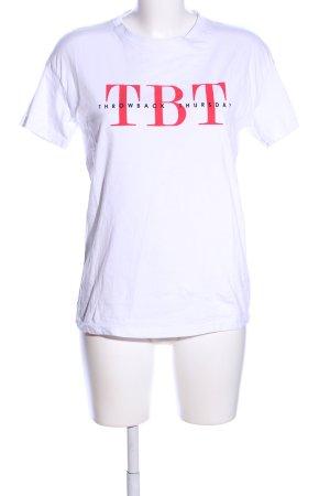 Bershka T-Shirt Schriftzug gedruckt Casual-Look