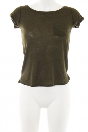 Bershka T-Shirt khaki Casual-Look