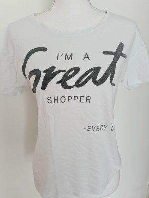 Bershka T-Shirt in weiß grau S