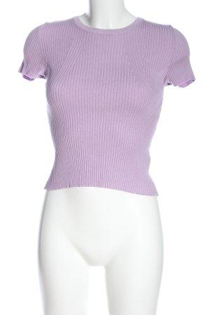 Bershka T-Shirt lila Casual-Look