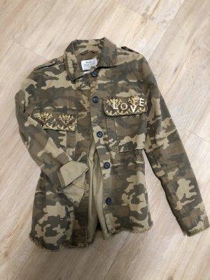 Bershka Military Jacket beige-khaki