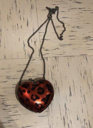 Bershka Mini sac noir-rouge foncé