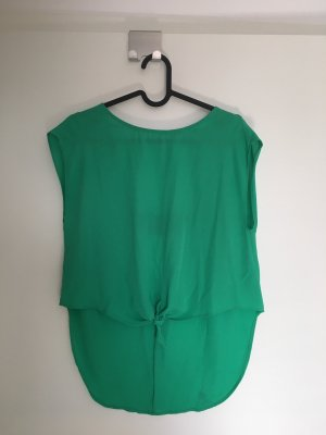 Bershka Top z odkrytymi plecami czarny-zielony
