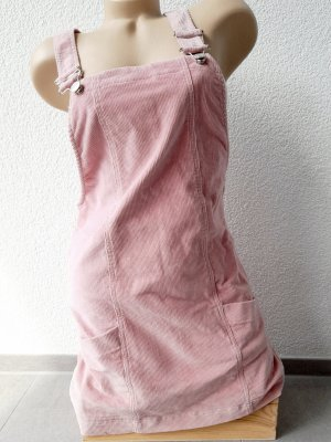 Bershka Trägerkleid Cord Rosa Latzkleid