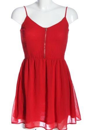 Bershka Trägerkleid rot Casual-Look