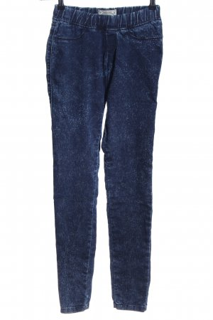 Bershka Treggings blau meliert Casual-Look
